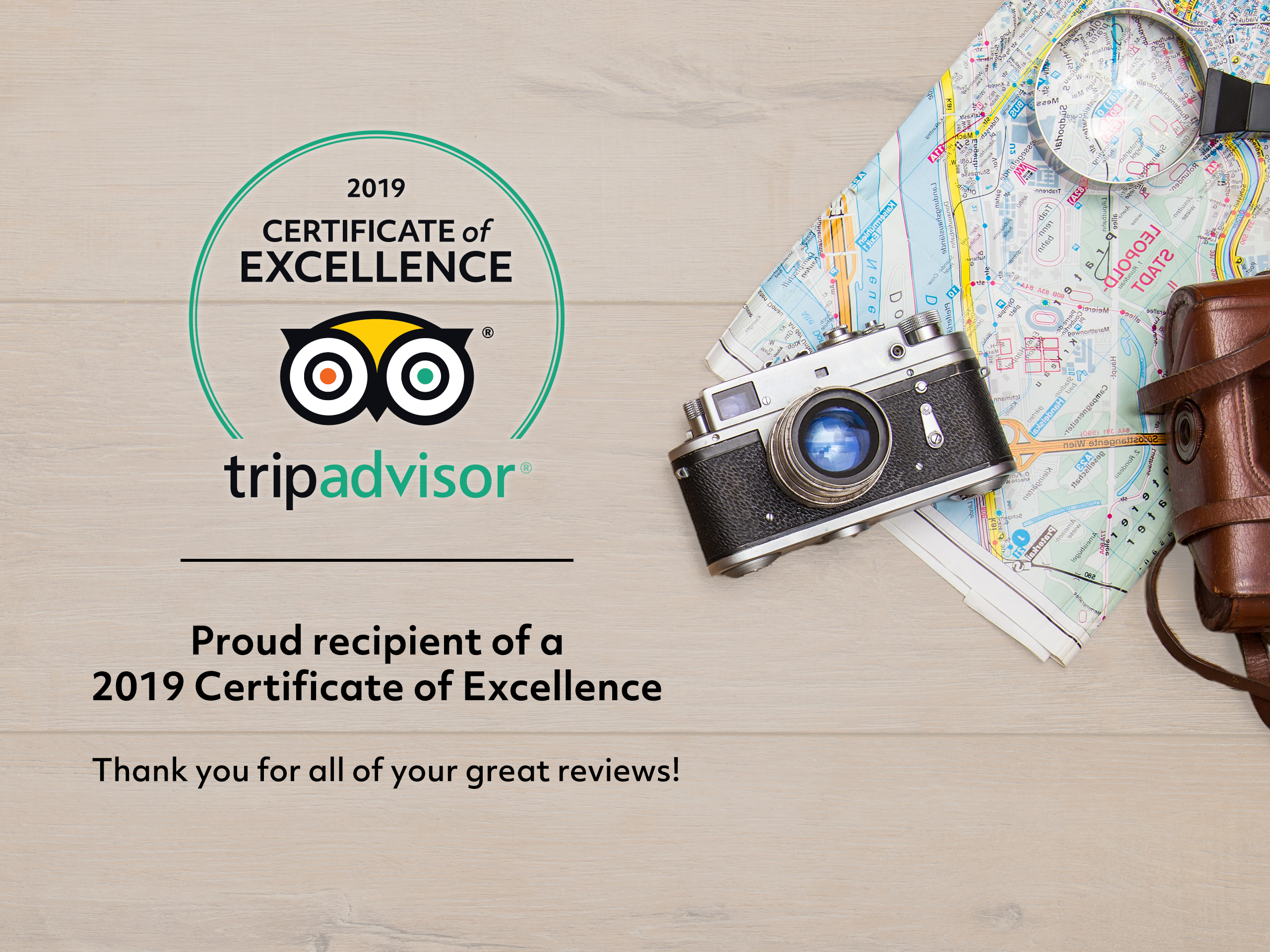 Trip Adviser Certificate of Excellence