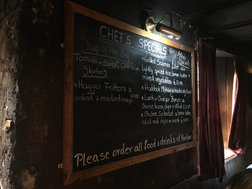 Drovers Inn Chefs Specials